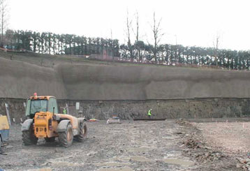 Retaining wall B & Q Sheffield